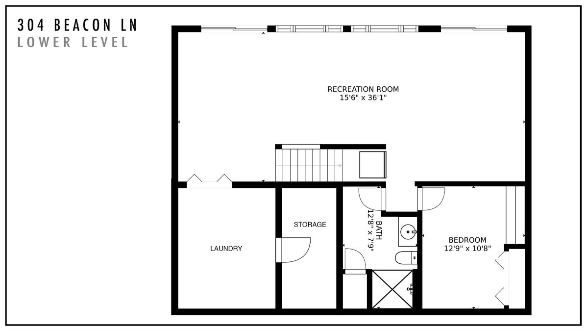 304 Beacon Ln Lower Level Floor Plan