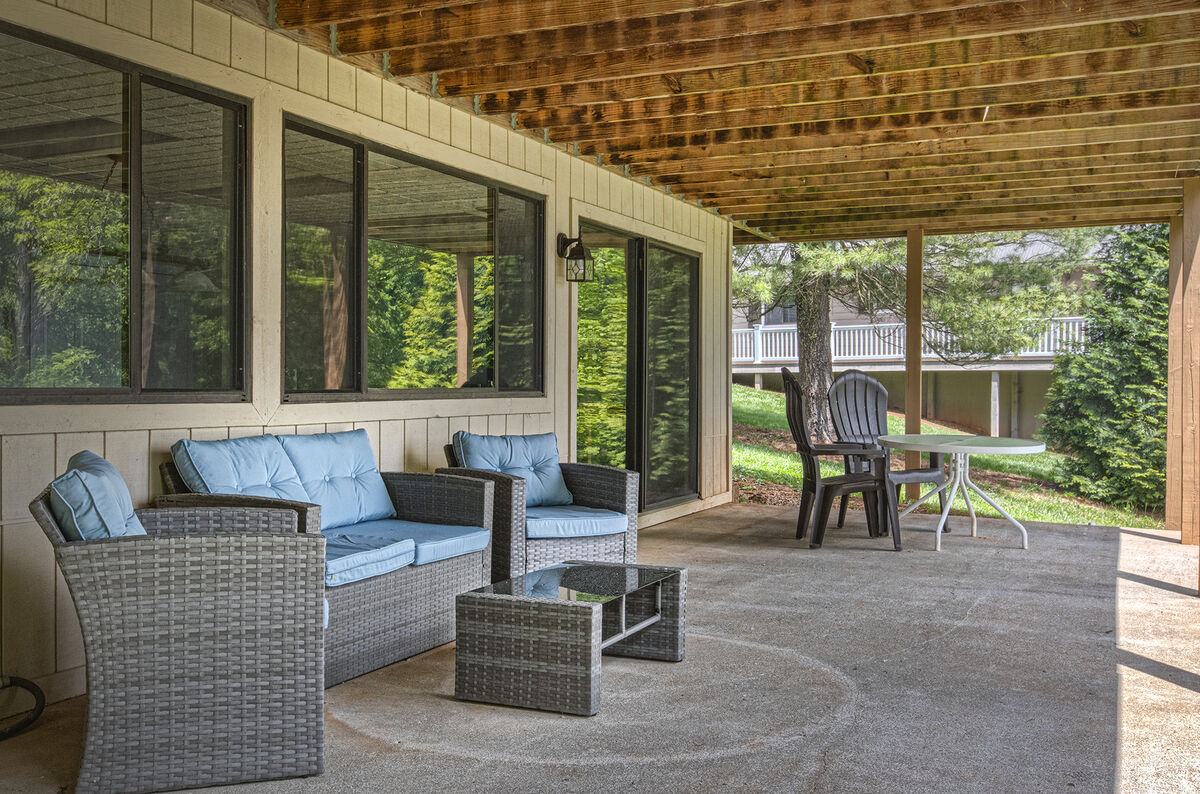 Seating under Covered Patio