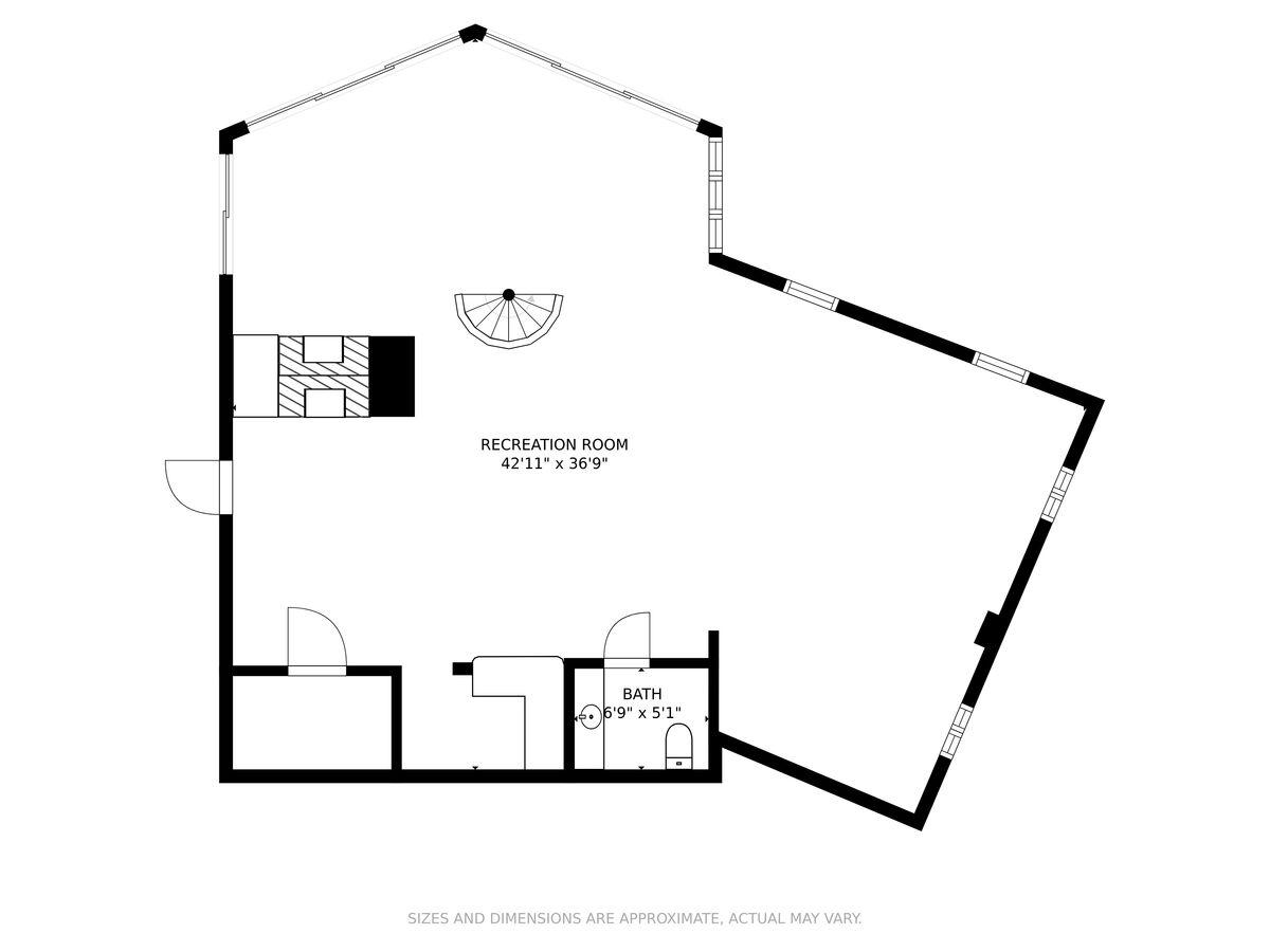 Property Lower Level Floor Plan.