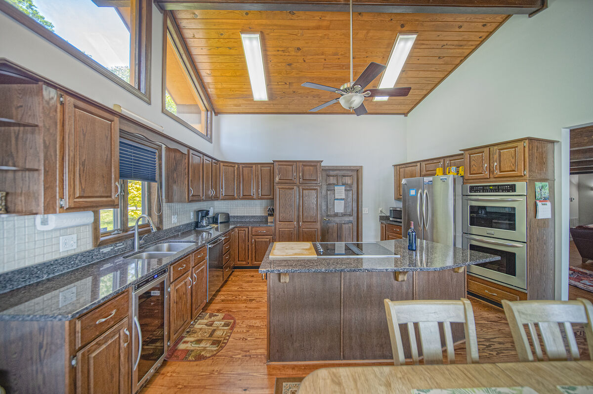 Spacious Kitchen Includes Stainless Steel Appliances.