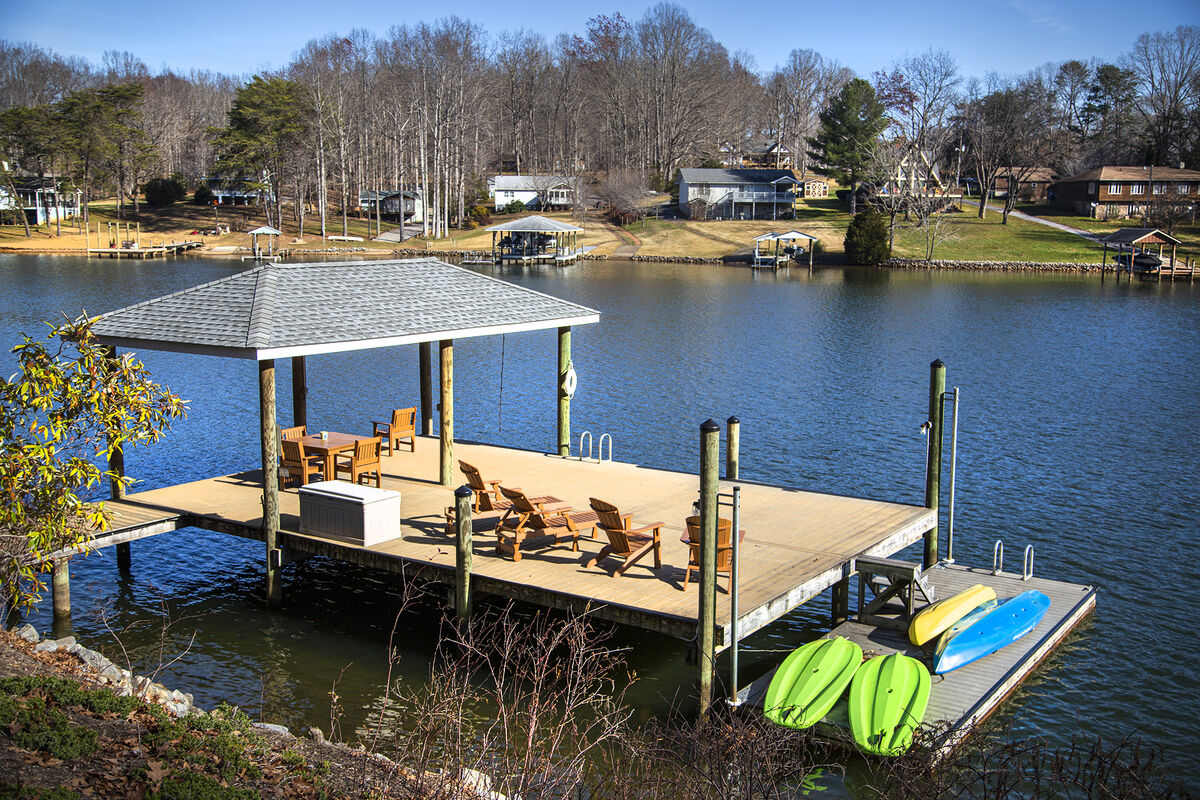 Large Oversized Dock, with Kayaks and Paddle Boards