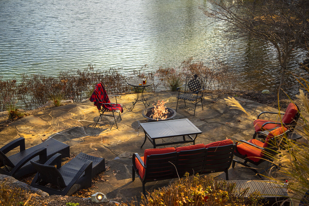 Enjoy the Lake Side Firepit with Lots of Seating