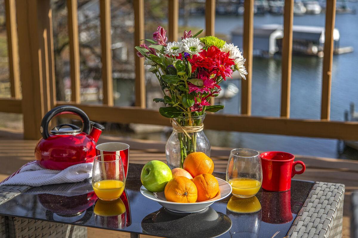 Breakfast on the deck