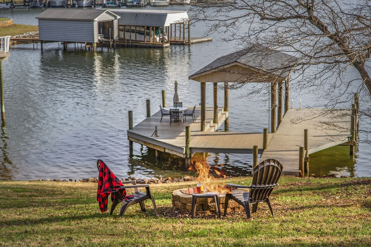 Fire Pit by the Lake , for those smores