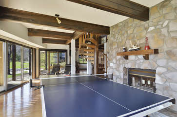 Ping Pong Table in Lower Level.