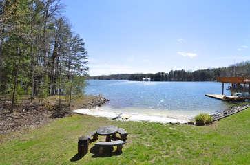 Photo of Backyard and Lake.
