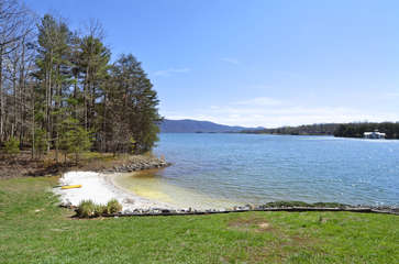 Private Sand Beach on the property at Smith Mountain Lake.