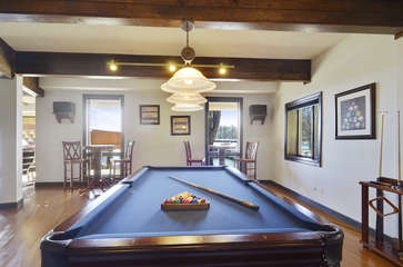 Image of Large Pool Table.