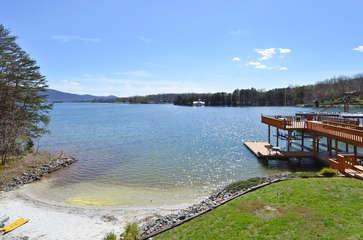 Image of Beach, Lake, and Dock.
