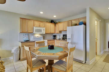 Kitchen and Card Table