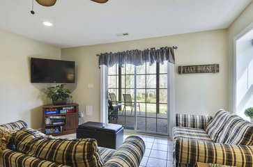 Second Floor Living Area with TV and Yard view