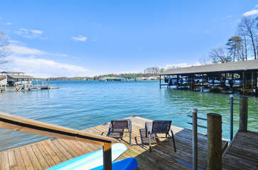 Dock on the Water with seating