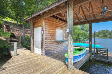 Dock with Storage Shed