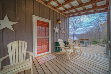 Front Porch with Entrance and Chairs