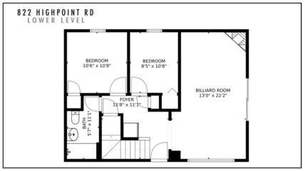 822 Highpoint Rd Lower Level Floor Plan