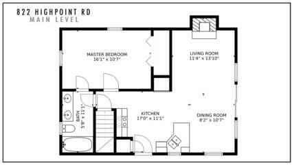 822 Highpoint Rd Main Level Floor Plan