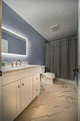 Full Bath with Shower/Tub Combo