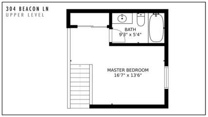 304 Beacon Ln Upper Level Floor Plan