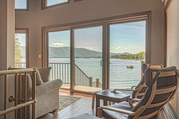 Image of Seating Area in Cabin for Rent at Smith Mountain Lake VA.