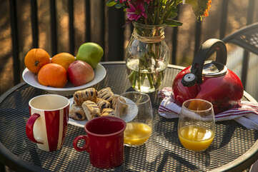 Enjoy Breakfast on the Deck each morning