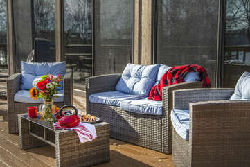 Comfortable deck furniture for those lazy days