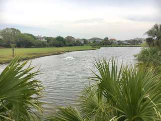 Beautiful view from decks and living room of the large lagoon by fairway 11 of the Ocean Winds Course.