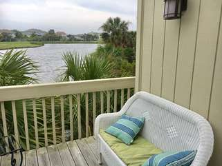 Relax on the deck off the master bedroom with a great view!