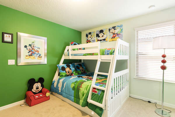 Let the kids choose their own bunk in this themed bedroom