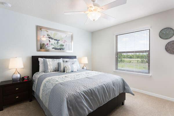 Get comfortable in this upstairs queen bedroom