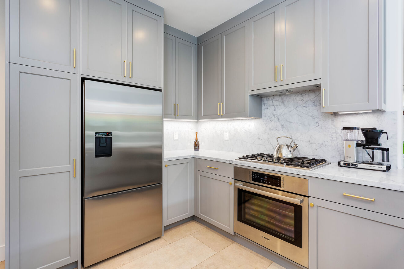 Stainless steel appliances are the perfect touch