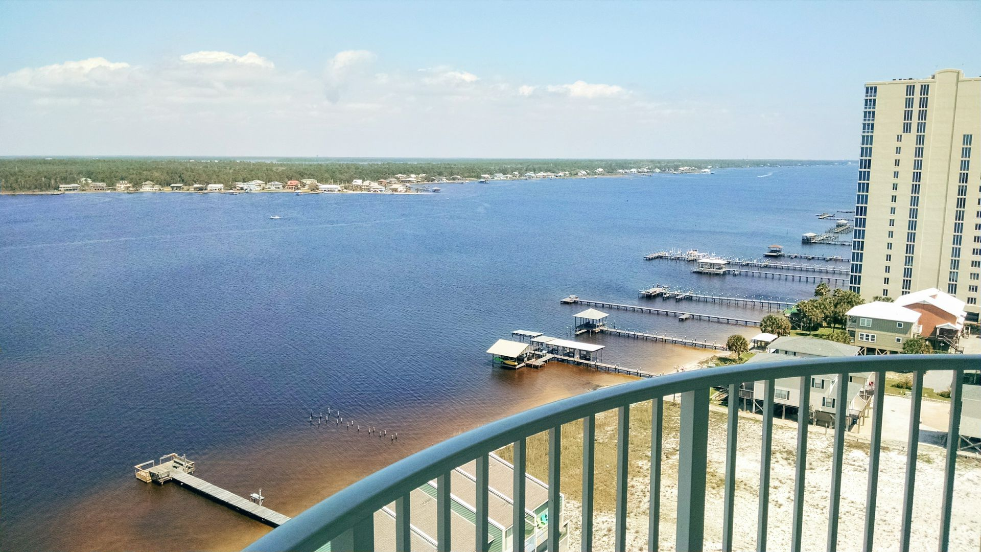Picture of the Lagoon from the Balcony.
