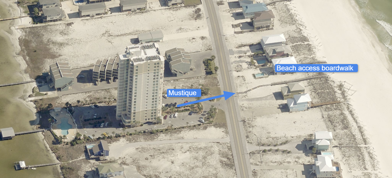 Aerial Picture of the Beach Access.