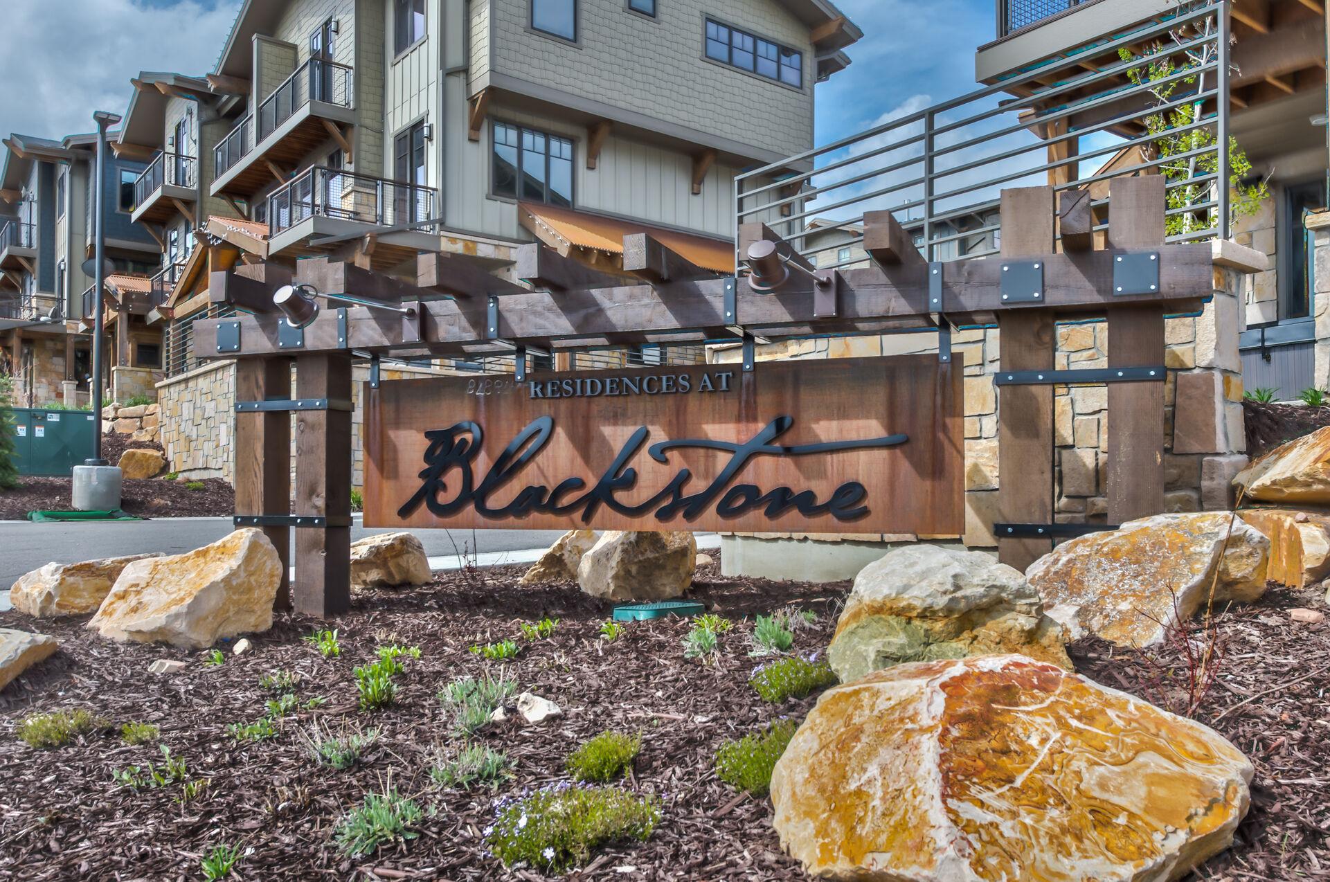 Entry to the Blackstone Community