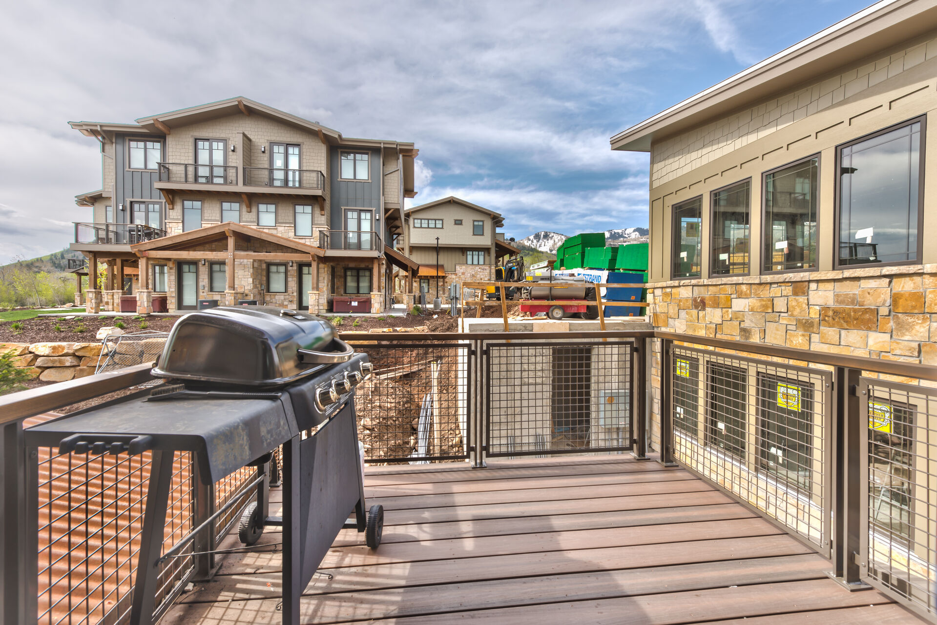Deck off of Living area with BBQ Grill