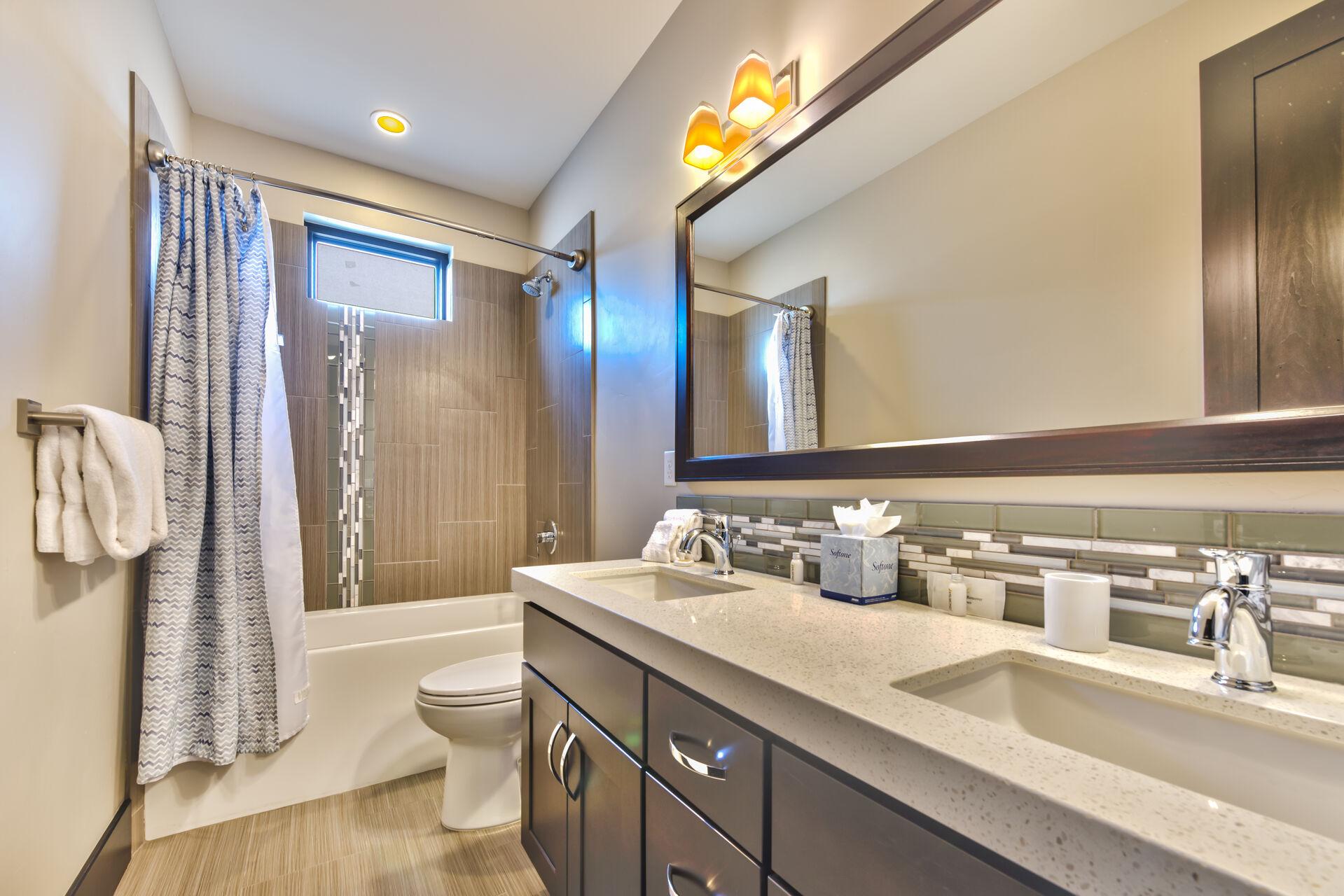Upper Level Shared Full Bathroom