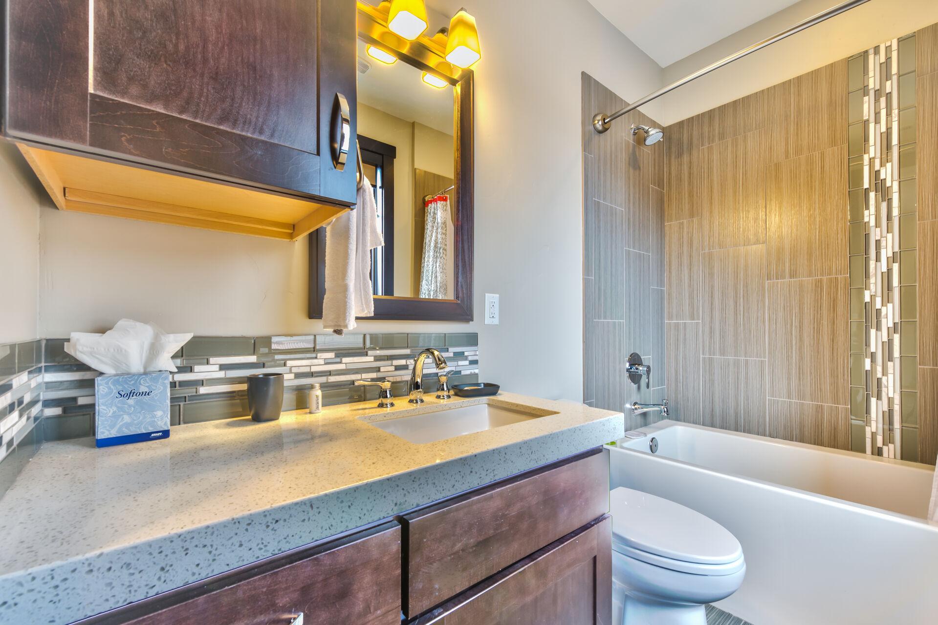Shared Full Bathroom off Kitchen area