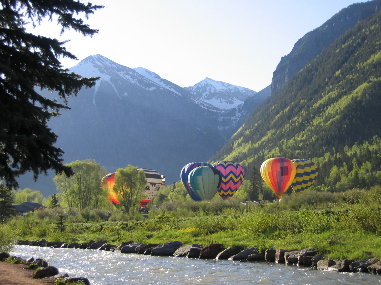 Hot Air Balloons in the mountains