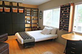 Third bedroom/office with queen bed.