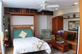 Full size Murphy bed in den/second bedroom.