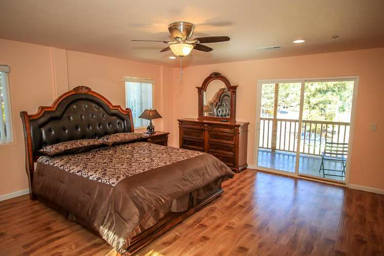 Bedroom 2- Upstairs Master Suite- King Bed, Private Patio Deck