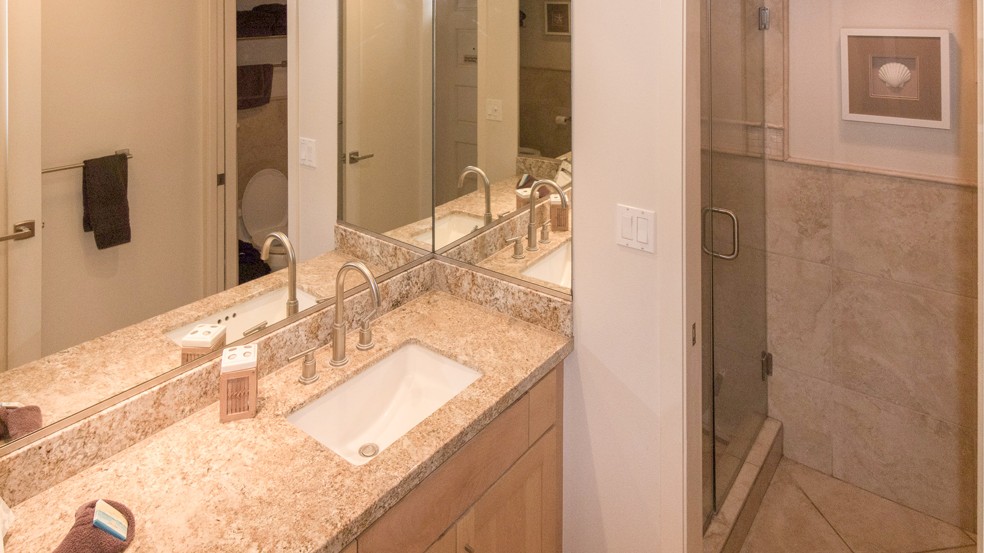 A105 Bathroom, Vanity and Shower