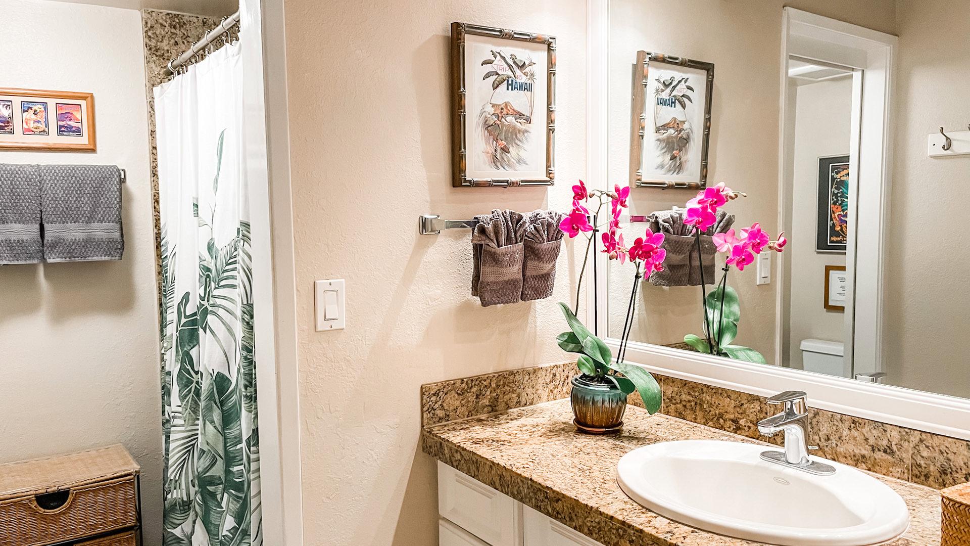 B211 Bathroom, Shower and Vanity
