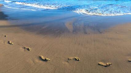 Footprints in the Sand at Luana Kai Resort