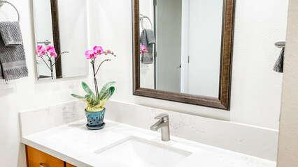 D105 Vanity from Shower