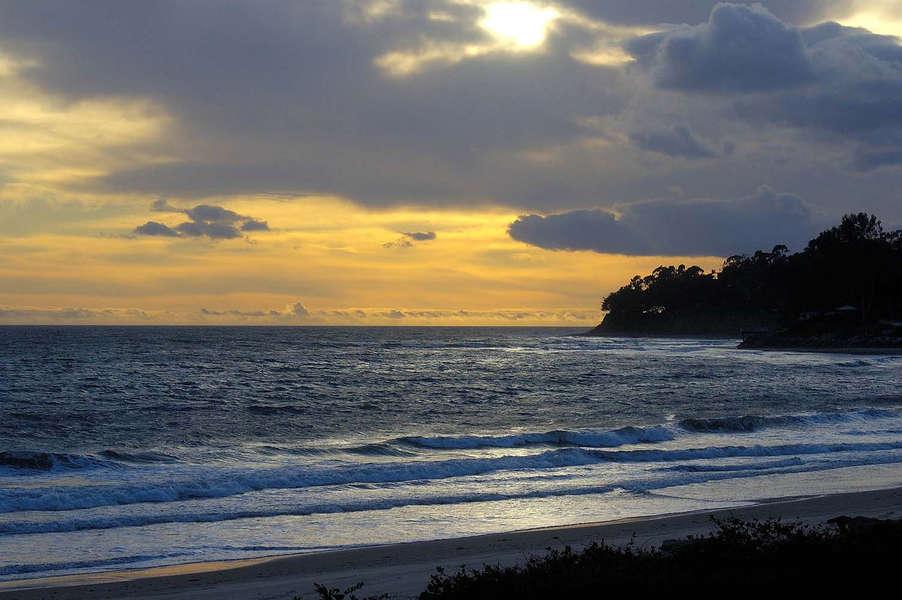 Padaro Beach at sunset, quiet and serene