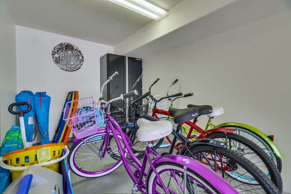 Bikes and Beach Gear Available to Guests of our San Diego Mission Beach Rental
