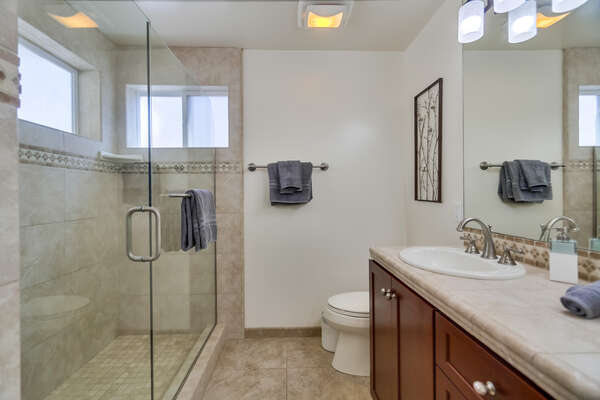 Master Ensuite Bathroom with Dual Vanities