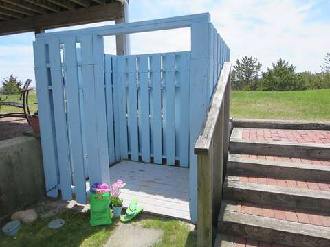 Outdoor shower for the condominiums use - 22 Starfish Lane Chatham Cape Cod - New England Vacation Rentals
