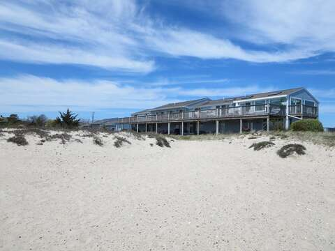 View of the back side of the condos from the beach - Chatham Cape Cod - New England Vacation Rentals