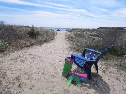 Steps out onto the beach - 22 Starfish Lane Chatham Cape Cod - New England Vacation Rentals